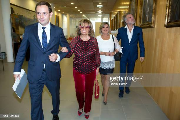 Maria Teresa Campos Terelu Campos and Bigote Arrocet attend tha appointment of Dani Rovira And Maria Teresa Campos Favorite And Adopted Sons of...