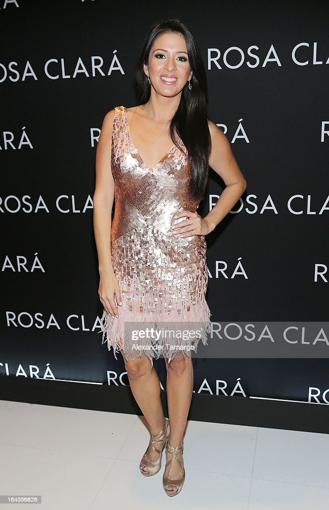 Maria Teresa Interiano attends the grand opening of Rosa Clara store on March 22, 2013 in Coral Gables, Florida.