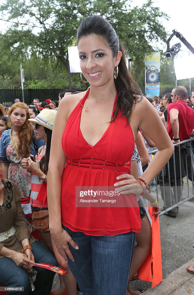 Maria Teresa Interiano poses during Univision's 'Despierta America' Morning Concert Series on June 22, 2012 in Miami, Florida.