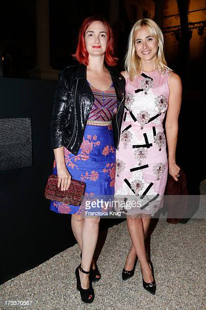 Maria Theresia von Thurn und Taxis and her sister Elisabeth von Thurn und Taxis attend the opera 'La Traviata' at the Thurn Taxis Castle Festival...