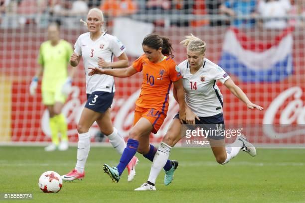 Maria Thorisdottir of Norway women Danielle van de Donk of Holland Women Ada Hegerberg of Norway women during the UEFA WEURO 2017 Group A group stage...