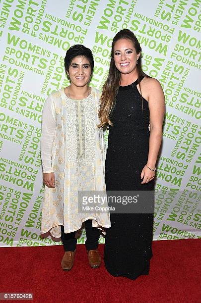 Maria Toorpakai Wazir and Shea Holbrook attend the 37th Annual Salute To Women In Sports Gala at Cipriani Wall Street on October 19 2016 in New York...