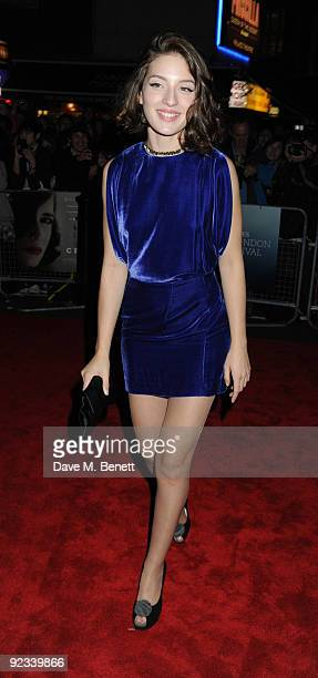Maria Valverde arrives for the screening of 'Cracks' during the Times BFI 53rd London Film Festival at the Vue West End on October 25 2009 in London...