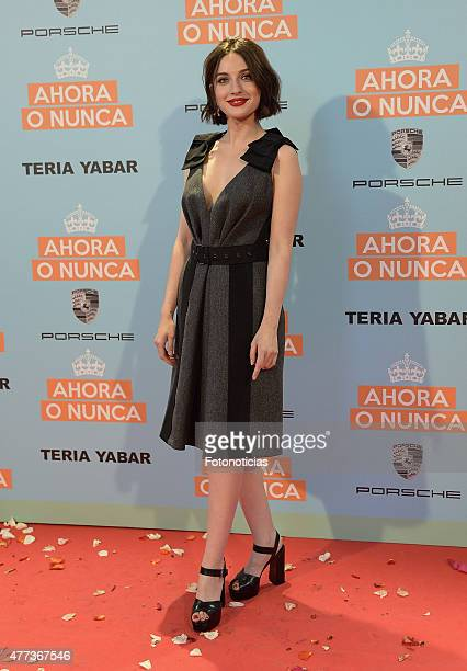 Maria Valverde attends the 'Ahora o Nunca' premiere at Capitol Cinema on June 16 2015 in Madrid Spain