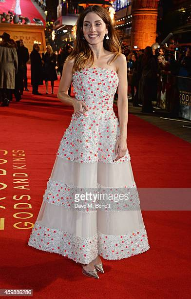 Maria Valverde attends the World Premiere of 'Exodus Gods and Kings' at Odeon Leicester Square on December 3 2014 in London England
