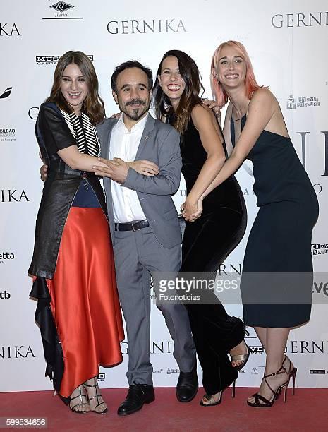 Maria Valverde Koldo Serra Barbara Goenaga and Ingrid GarciaJonsson attend the 'Gernika' premiere at Palafox cinema on September 5 2016 in Madrid...