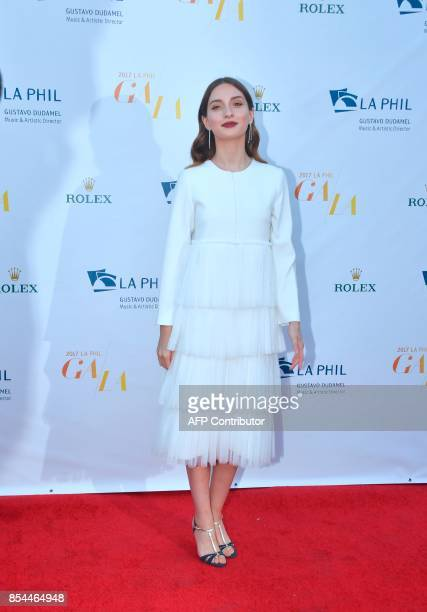 Maria Valverde wife of Venezuelan Conductor Gustavo Dudamel Music and Artistic Director of the Los Angeles Philharmonic arrives for the 2017/18...