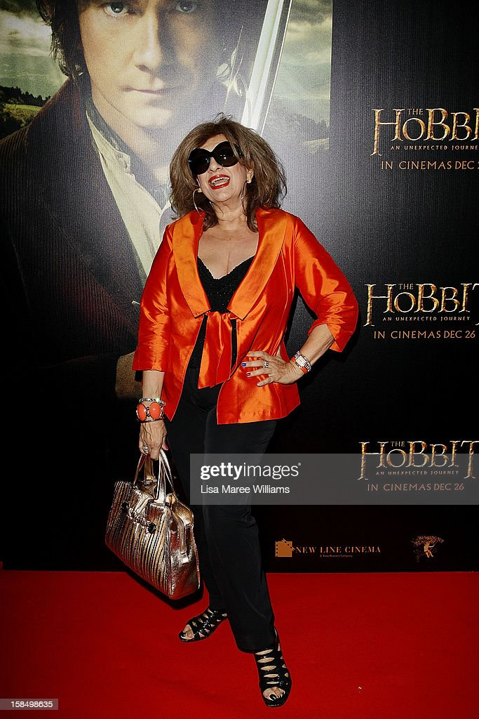 Maria Venuti attends the Sydney premiere of 'The Hobbit: An Unexpected Journey' at George Street V-Max Cinemas on December 18, 2012 in Sydney, Australia.