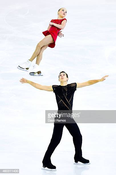 Maria Vigalova and Egor Zakroev of Russia perform during the Junior Pairs Short Program Final during day one of the ISU Grand Prix of Figure Skating...