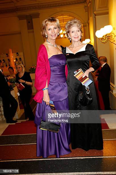 Maria von Welser and Christiane Hoerbiger attend the 'Semper Opera Ball 2013' on February 1 2013 in Dresden Germany