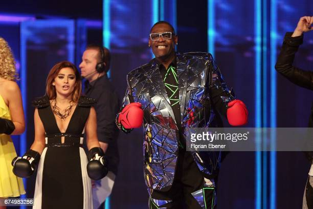 Maria Voskania and Alphonso Williams during the fourth event show and semi finals of the tv competition 'Deutschland sucht den Superstar' at Coloneum...
