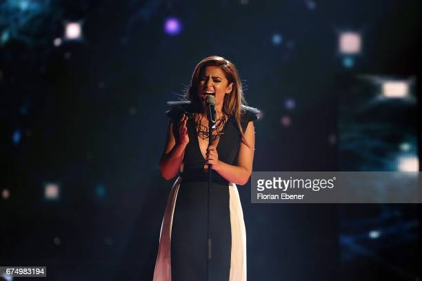 Maria Voskania during the fourth event show and semi finals of the tv competition 'Deutschland sucht den Superstar' at Coloneum on April 29 2017 in...