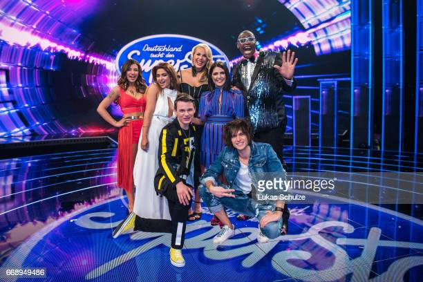 Maria Voskania Sandro Brehorst Chanelle Wyrsch Monique Simon Alphonso Williams Duygu Goenel and Alexander Jahnke pose after the second event show of...