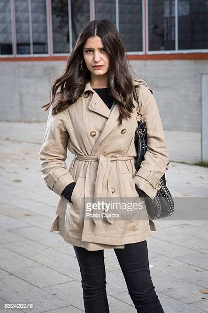 Maria wears Senty trousers and Massimo Dutti coat on January 22 2017 in Madrid Spain