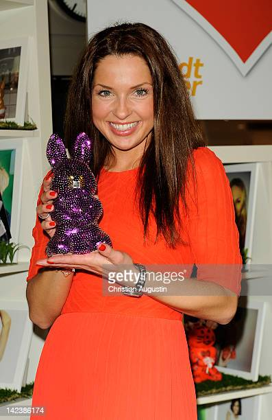 Maria Wedig attends Easter Bunny Charity Auction at Billstedt Shopping Centre on April 3 2012 in Hamburg Germany