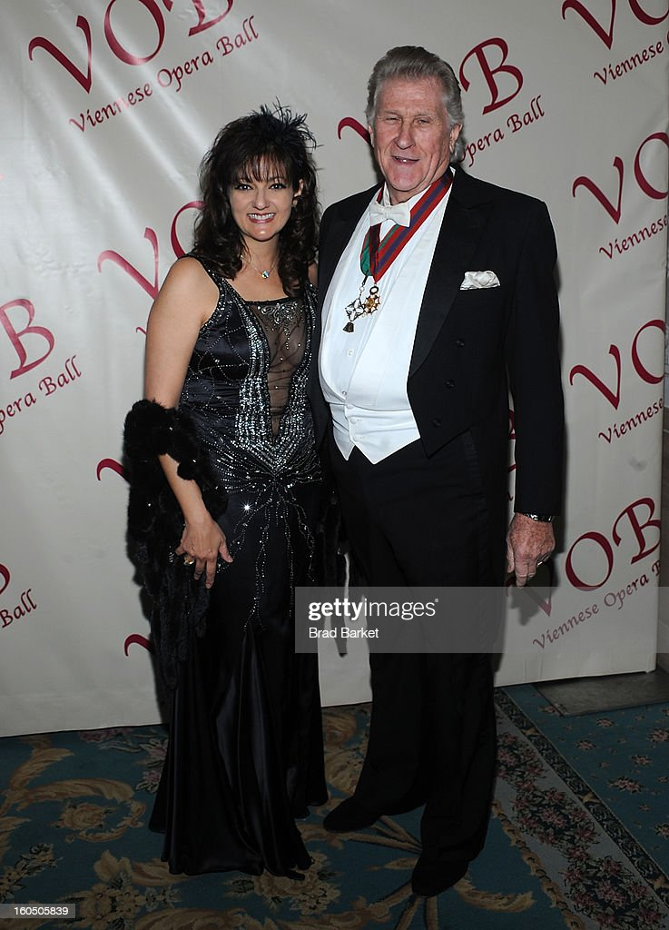 Maria Zouves and Sherill Milnes attend The 58th Annual Viennese Opera Ball at The Waldorf=Astoria on February 1, 2013 in New York City.