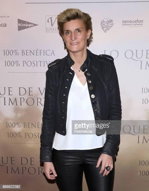 Maria Zurita attends the 'Lo Que De Verdad Importa' premiere at the Hotel Vincci Capitol on February 15 2017 in Madrid Spain