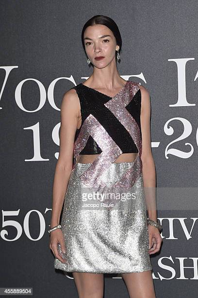 Mariacarla Boscono attends Vogue Italia 50th Anniversary during Milan Fashion Week Womenswear Spring/Summer 2015 on September 21 2014 in Milan Italy