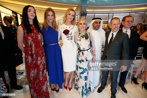 Mariacarla Boscono Malgosia Bela Eva Herzigova Franca Sozzani Nasser Rafi and Johnathan Newhouse during the VIP Mall Tour at the Vogue Fashion Dubai...
