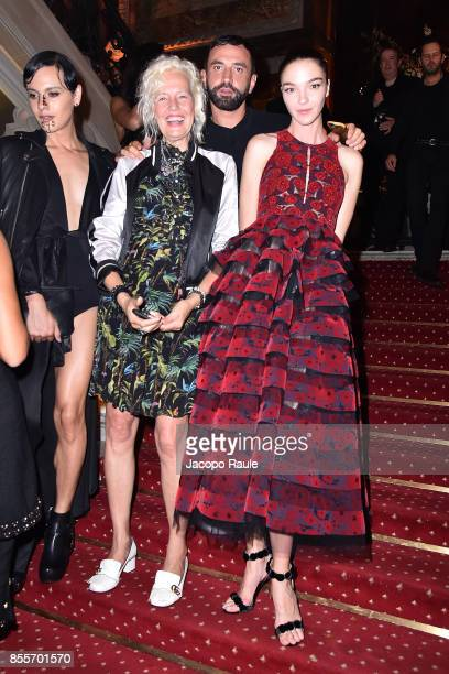 Mariacarla Boscono Riccarto Tisci and Ellen von Unwerth attends the 20 Years Of MariaCarla Party as part of the Paris Fashion Week Womenswear...