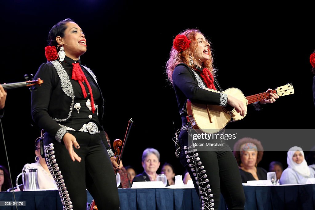 Mariachi Flor de Toloache performs on stage during The New York Women's Foundation's 2016 celebration womens breakfast on May 5, 2016 in New York City.