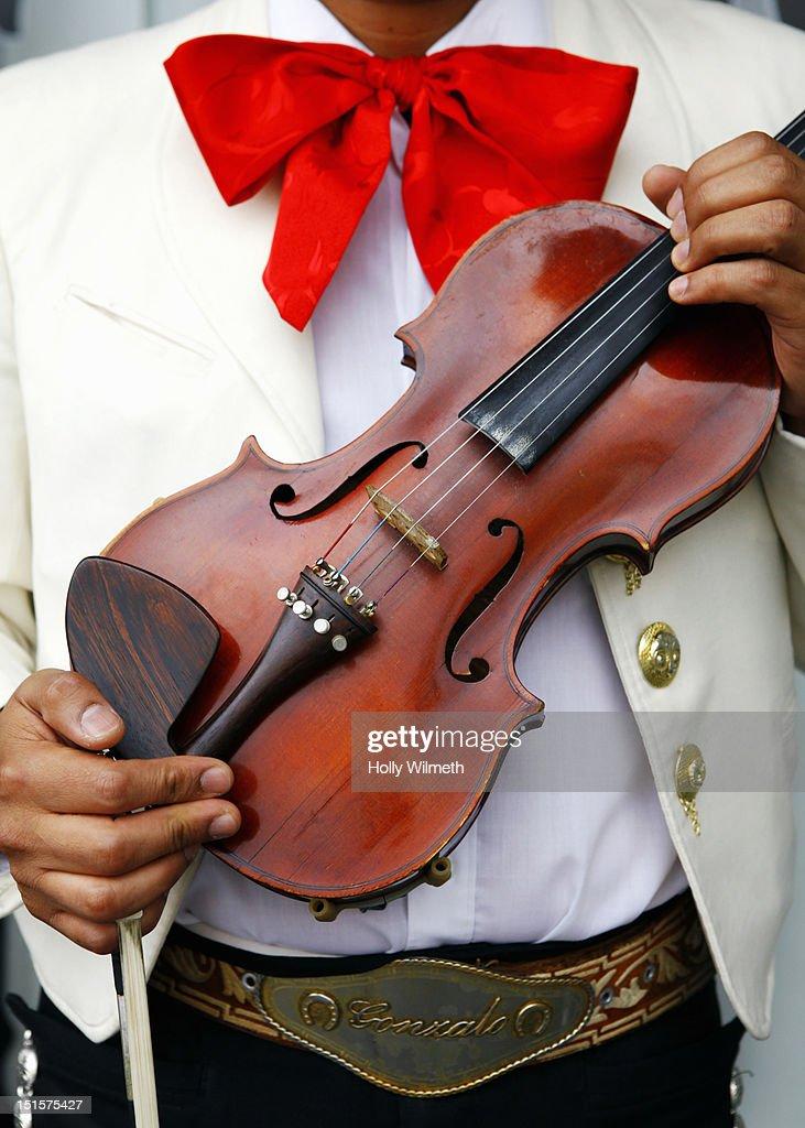 Mariachi with violin : Stock Photo