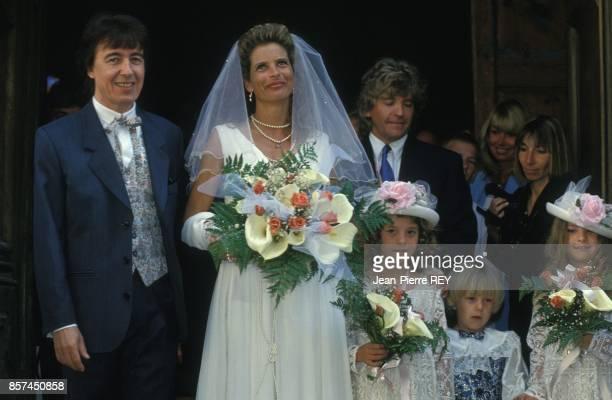 Mariage de Bill Wyman avec Suzanne Accosta le 20 avril 1993 a SaintPaul de Vence France