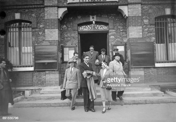 Mariage du truand Jo Attia à Paris France en 1952