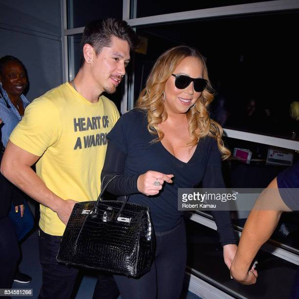Mariah Carey and boyfriend Bryan Tanaka seen at Chelsea Piers on August 17 2017 in New York City