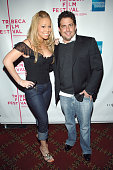 Mariah Carey and Brett Ratner during 4th Annual Tribeca Film Festival 'The Interpreter' Premiere Inside Arrivals at Ziegfeld Theatre in New York City...