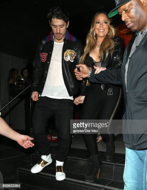 Mariah Carey and Bryan Tanaka are seen on February 15 2017 in Los Angeles CA