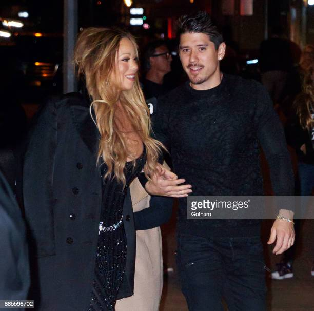 Mariah Carey and Bryan Tanaka at a dinner honoring Karl Lagerfeld on October 23 2017 in New York City