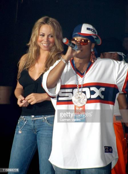 Mariah Carey and Da Brat during Mariah Carey and Da Brat Perform at Roseland Ballroom October 25 2002 at Roseland Ballroom in New York City New York...
