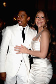 Mariah Carey and her husband Nick Cannon leave Plaza Athénée on April 27 2012 in Paris France