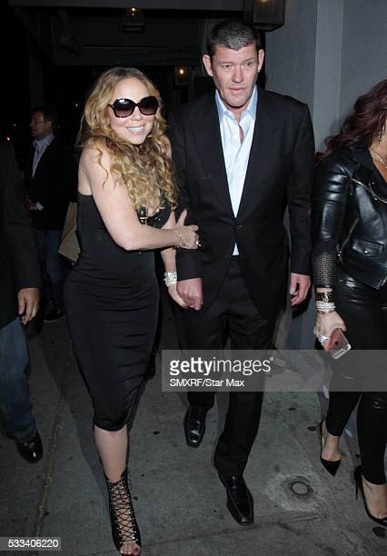 Mariah Carey and James Packer are seen on May 21 2016 in Los Angeles California