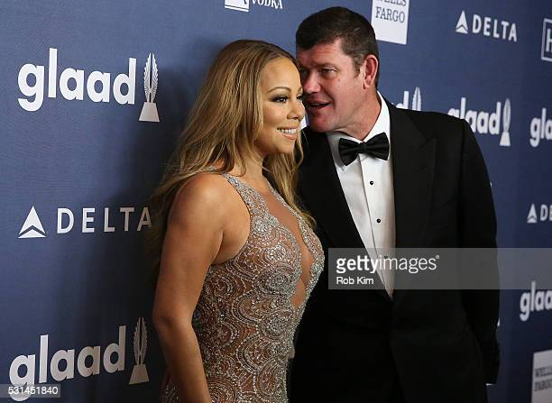 Mariah Carey and James Packer arrive for the 27th Annual GLAAD Media Awards at The Waldorf=Astoria on May 14 2016 in New York City