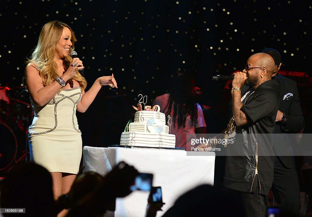 Mariah Carey and Jermain Dupri attend the So So Def 20th anniversary concert at the Fox Theater on February 23, 2013 in Atlanta, Georgia.