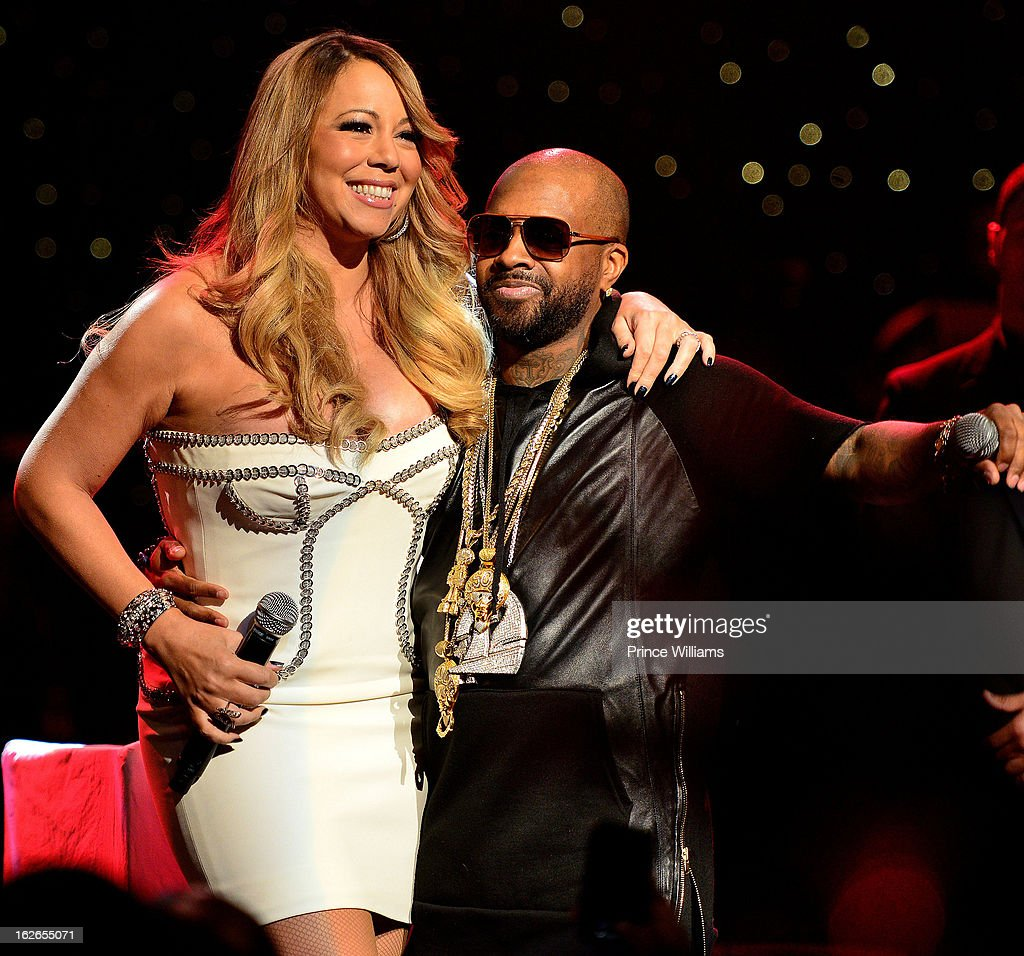 <a gi-track='captionPersonalityLinkClicked' href=/galleries/search?phrase=Mariah+Carey&family=editorial&specificpeople=171647 ng-click='$event.stopPropagation()'>Mariah Carey</a> and JErmain Dupri on stage at the So So Def 20th anniversary concert at the Fox Theater on February 23, 2013 in Atlanta, Georgia.