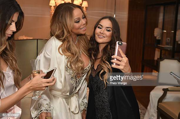 Mariah Carey and Maryam Maquillage attend MAC Cosmetics Mariah Carey Beauty Icon Launch at Baccarat Hotel on December 3 2016 in New York City