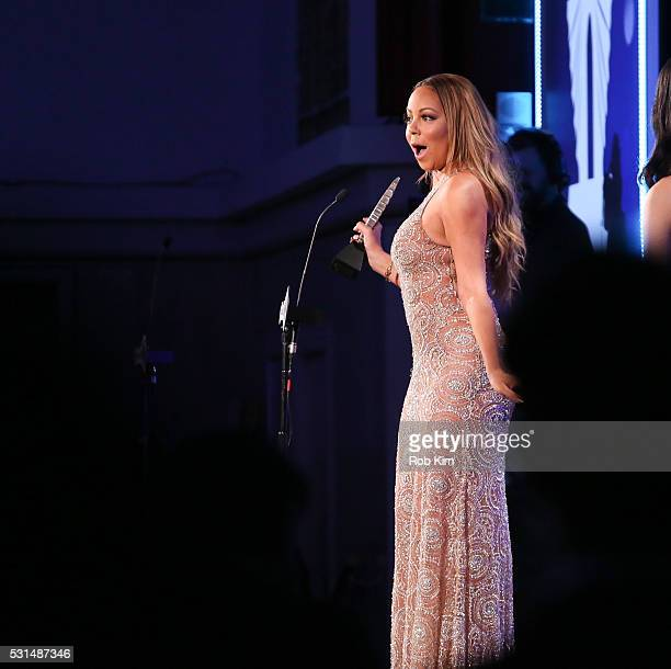 Mariah Carey appears on stage during the 27th Annual GLAAD Media Awards at The Waldorf=Astoria on May 14 2016 in New York City