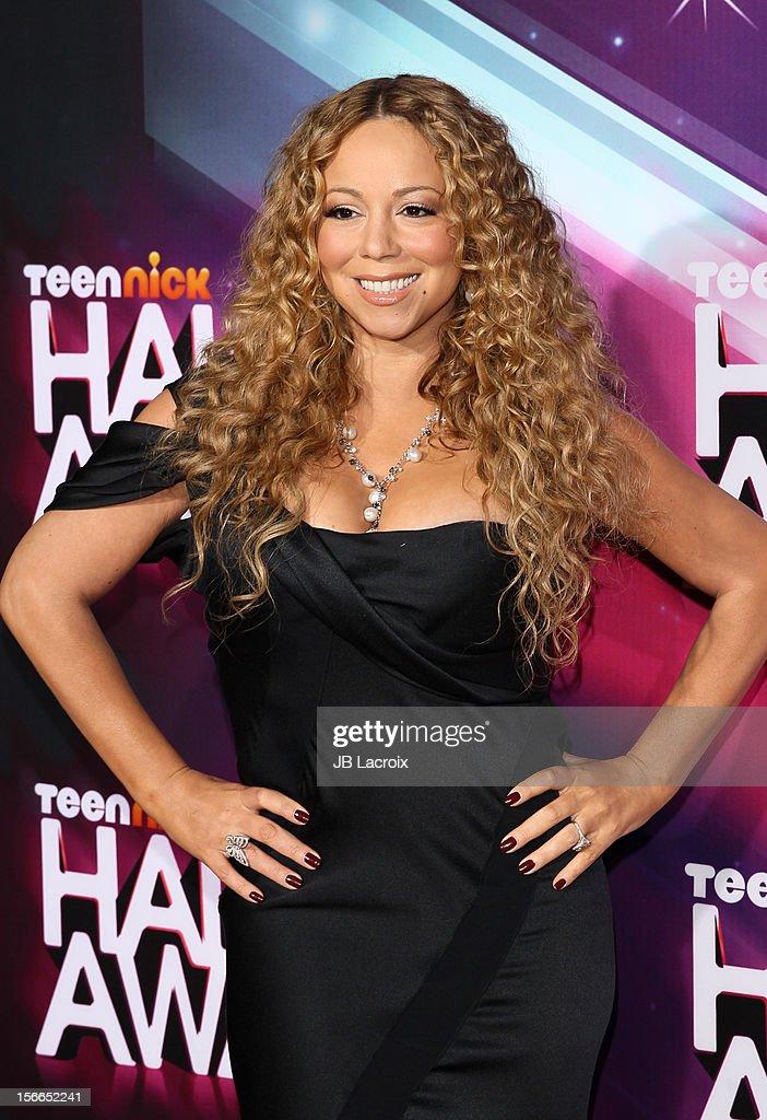 Mariah Carey arrives at Nickelodeon's 2012 TeenNick HALO Awards at The Hollywood Palladium on November 17, 2012 in Los Angeles, California.