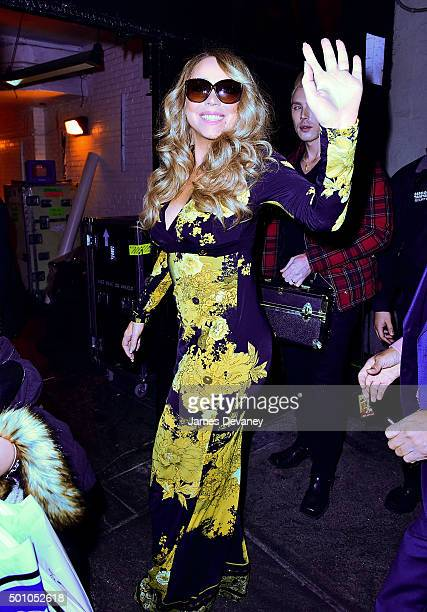 Mariah Carey arrives to Beacon Theater on December 11 2015 in New York City