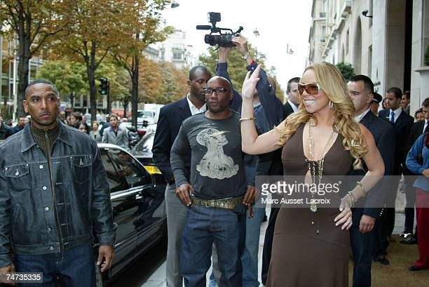Mariah Carey at the Four Seasons Georges V Hotel in Paris France