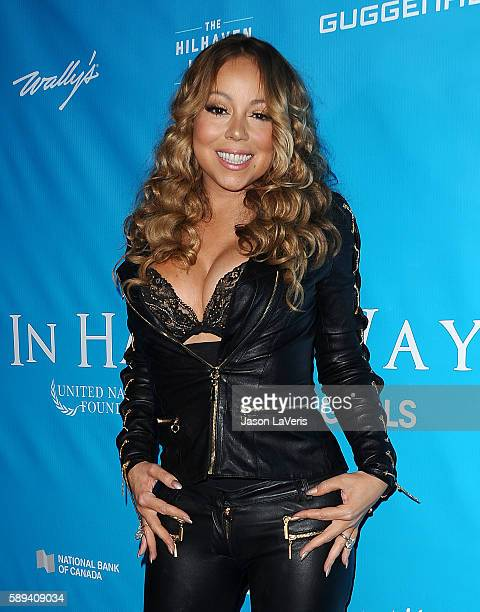Mariah Carey attends a special event for UN SecretaryGeneral Ban Kimoon on August 10 2016 in Los Angeles California