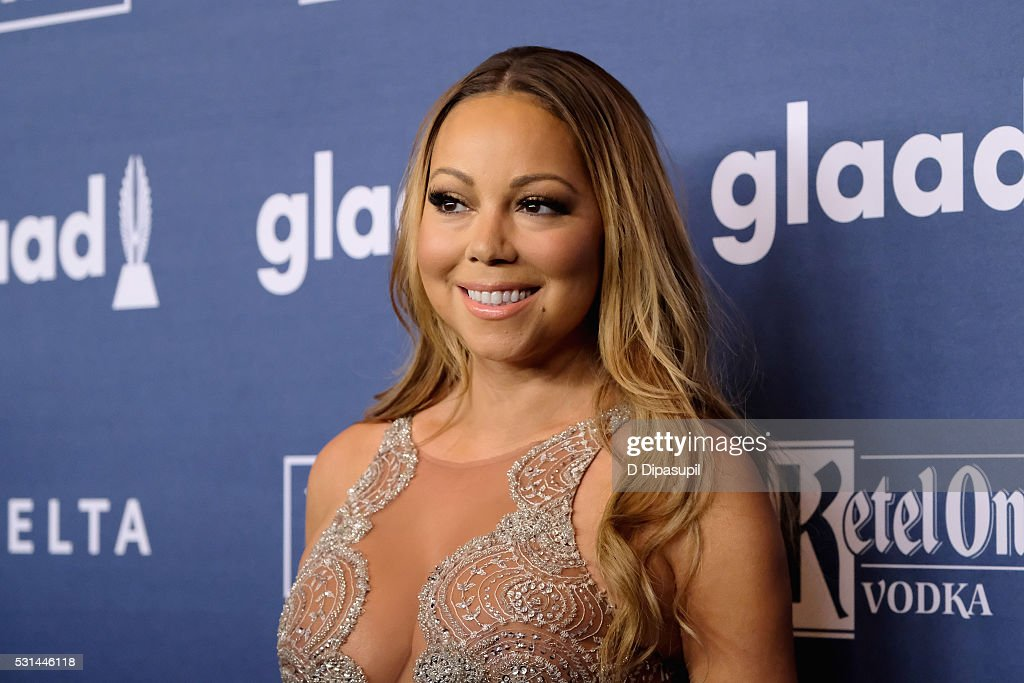 Mariah Carey attends at The 27th Annual GLAAD Media Awards with Hilton at Waldorf Astoria Hotel on May 14, 2016 in New York City.