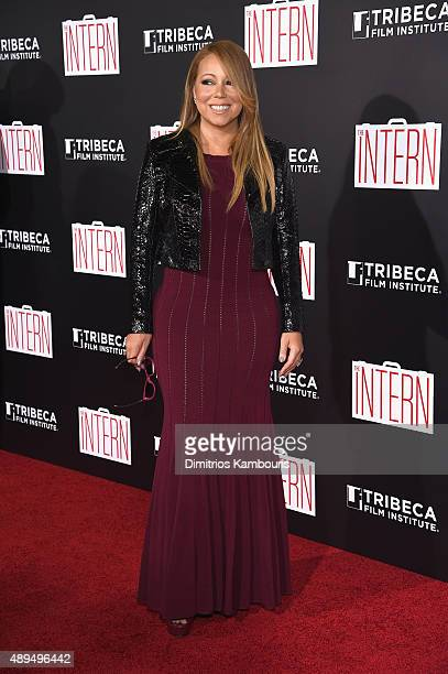 Mariah Carey attends 'The Intern' New York Premiere at Ziegfeld Theater on September 21 2015 in New York City