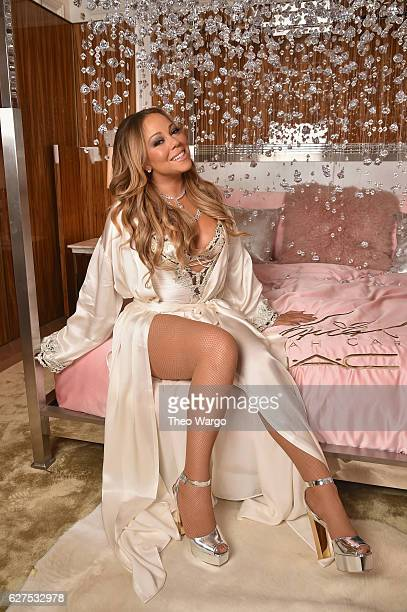 Mariah Carey attends the MAC Cosmetics Mariah Carey Beauty Icon Launch at Baccarat Hotel on December 3 2016 in New York City