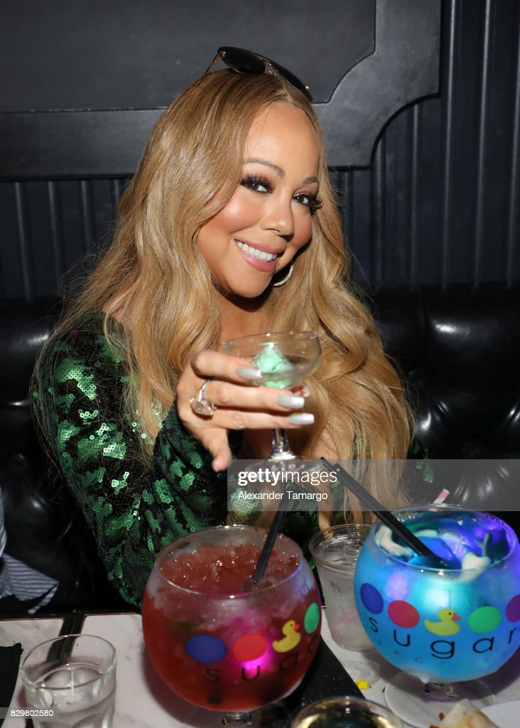 Mariah Carey attends the Mariah Carey concert after party at Sugar Factory American Brasserie on Ocean Drive on August 10, 2017 in Miami Beach, Florida.