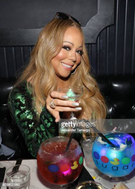 Mariah Carey attends the Mariah Carey concert after party at Sugar Factory American Brasserie on Ocean Drive on August 10 2017 in Miami Beach Florida