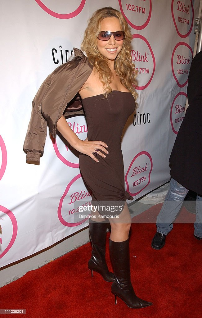Mariah Carey during Launch Party for Infinity Broadcasting radio station Blink 1027 at Powder in New York City New York United States